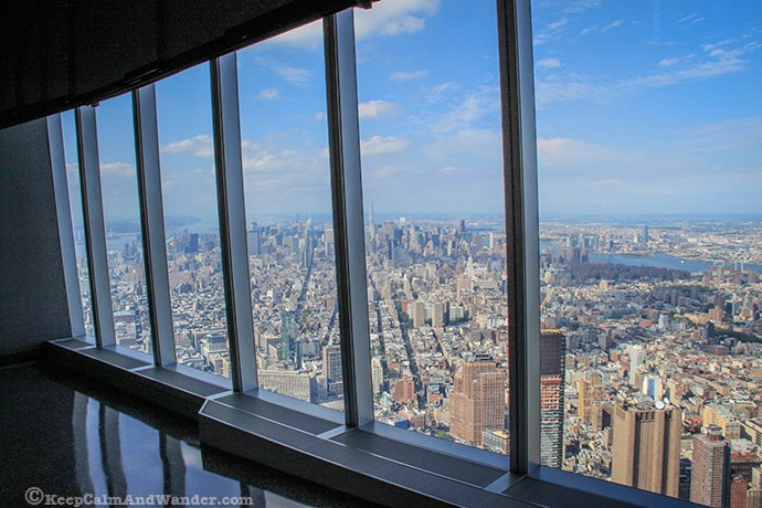 New York Skyline from One World Tower Observatory Deck.