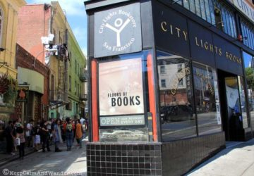 City Lights Bookstore and Publishing in San Francisco, California.