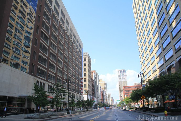 Downtown Detroit during the day