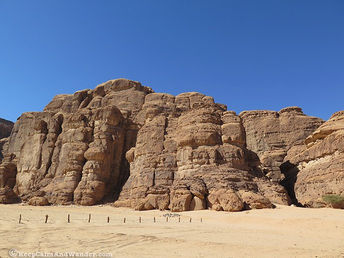 Madakhil Campsite at Madain Saleh is just a few kilometres away outside Al Ula.