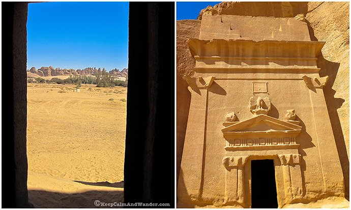 Madian Saleh's Qasr Al Saneh is an ancient Nabatean architectural marvel.