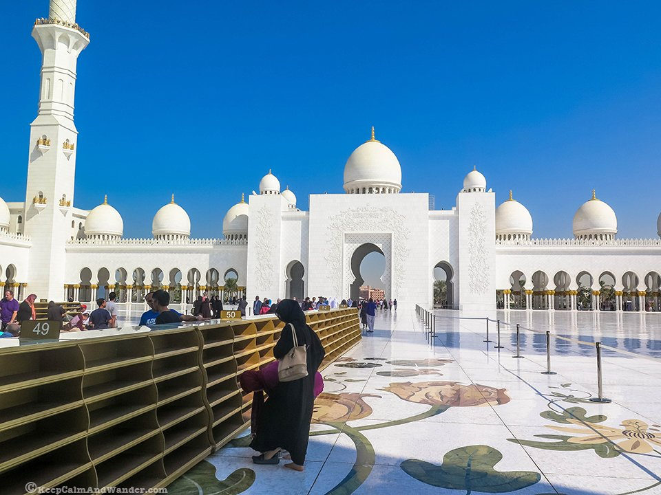 Sheikh Zayed Mosque in Abu Dhabi, UAE.