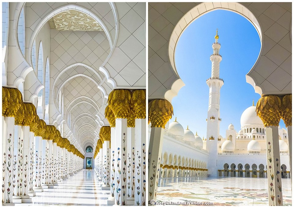 Sheikh Zayed Grand Mosque in Abu Dhabi, UAE.