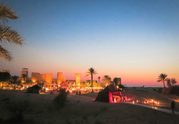 Arabian Nights in the desert outside Dubai.