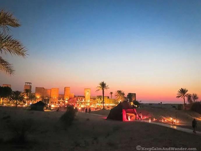 Arabian Nights in the desert outside Dubai.