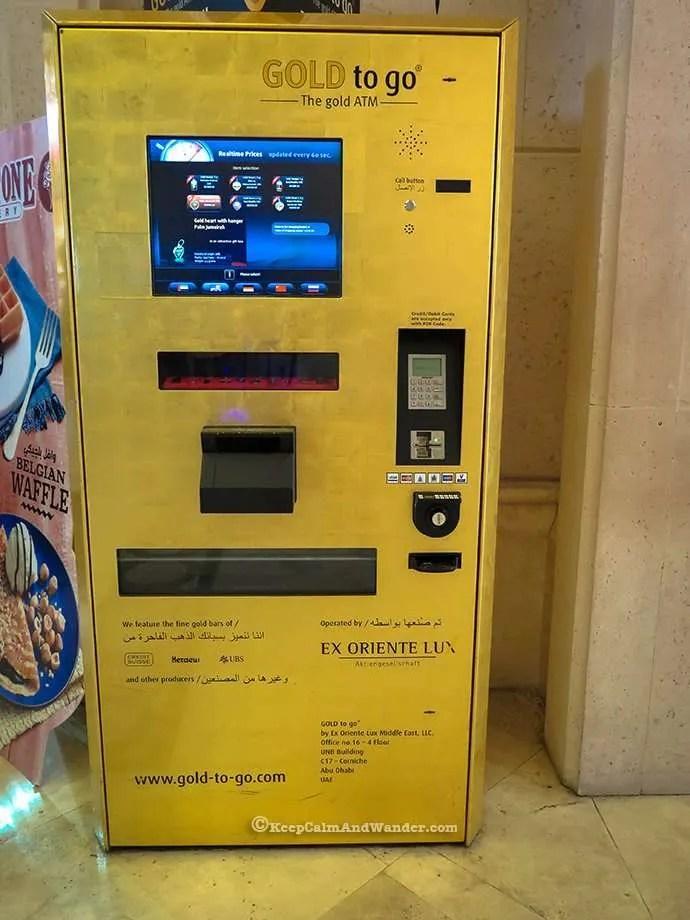 This vending machine dispenses gold in Dubai.
