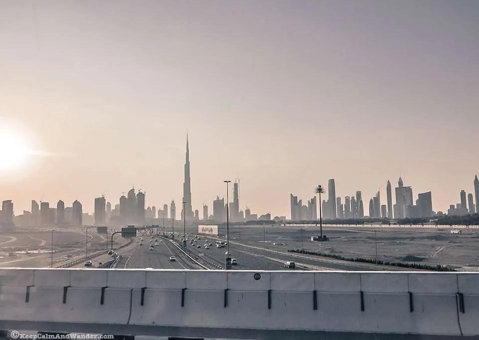 Sunset in Dubai / Dubai Skyline.
