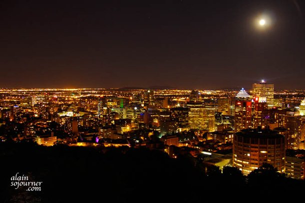Montreal Panorama at Night