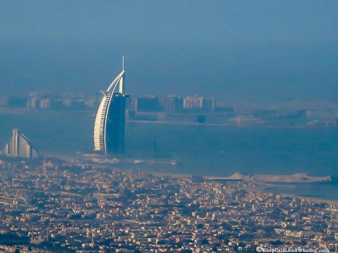 View of Burj Al-Arab Dubai from Burj Khalifa.