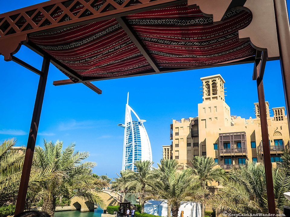 Souk Madinat in Dubai is designed like a little Arabian town.