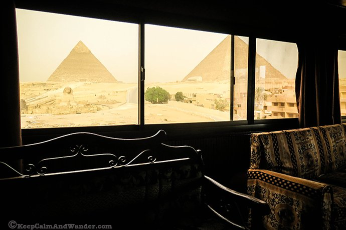 Sphinx Guest House - Hotel Room with A View of the Pyramids / Giza, Egypt.