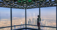 View from the Top of Burj Khalifa, the world's tallest building.