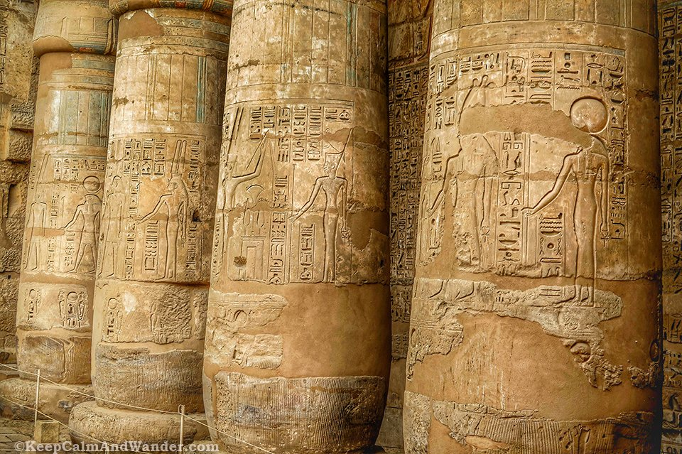 Luxor's Madinet Habu Temple is an architectural wonder.