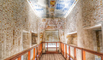 Inside the Tomb of King Ramesses IV at the Valley of the Kings.