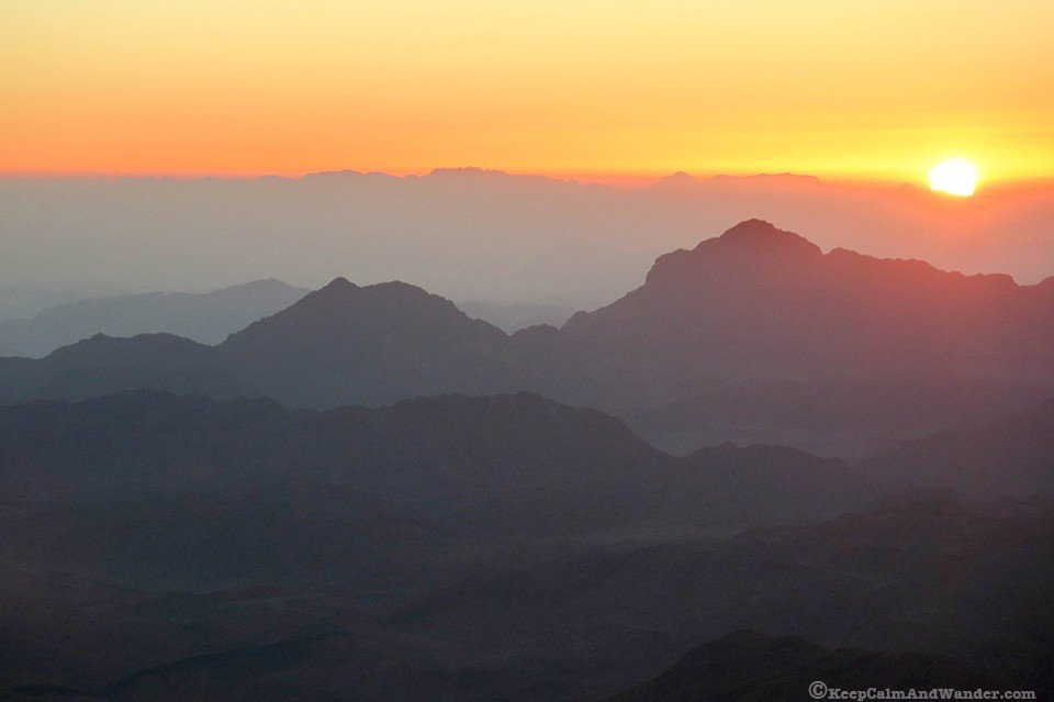 mountain where Moses climbed Egypt