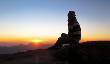 Sunrise at Mt Sinai, Egypt.