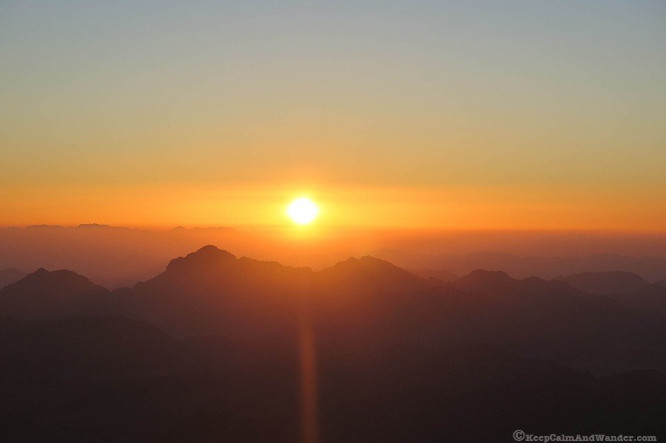 mountain where Moses climbed