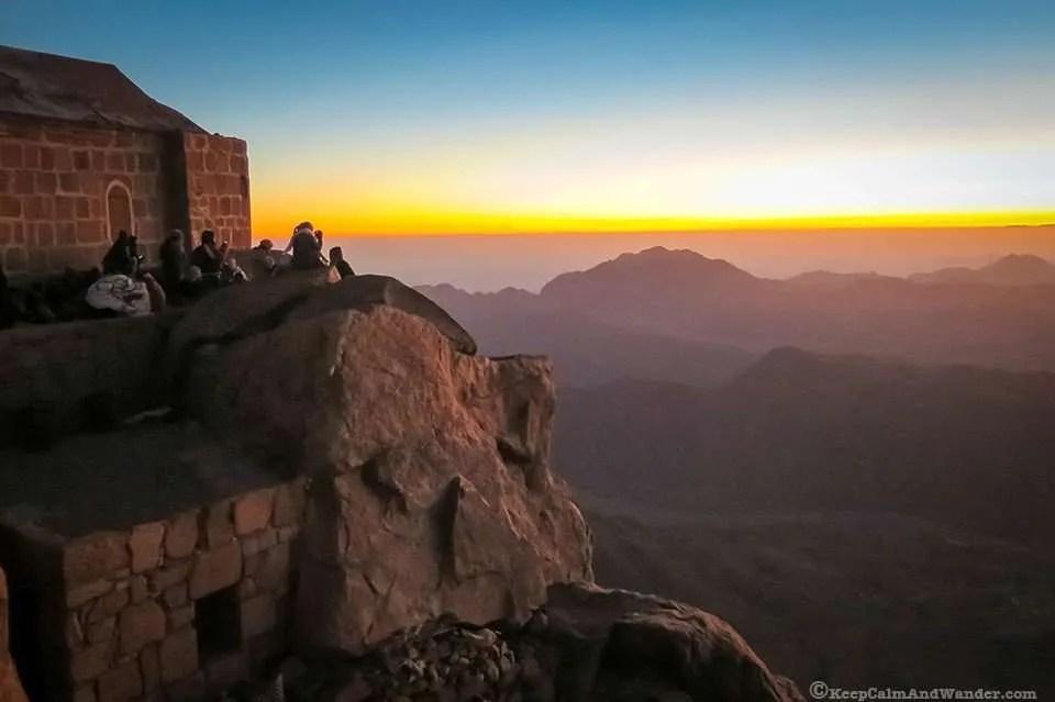 Sunrise at Mt Sinai, Egypt.