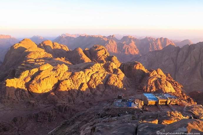 Sunrise at Mt. Sinai, Egypt.