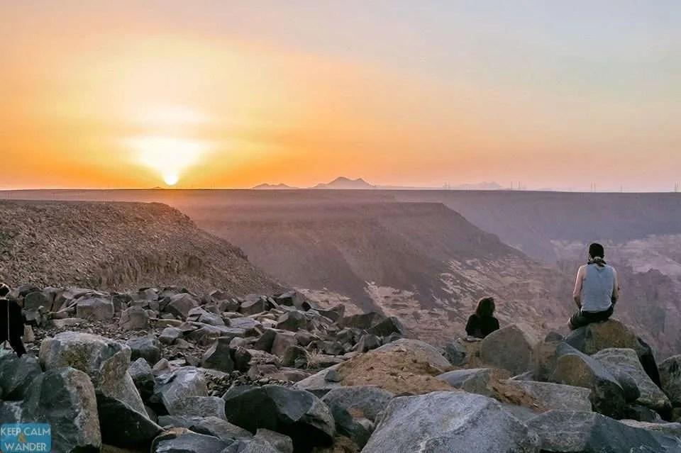 Sunset in Al Ulah, Saudi Arabia
