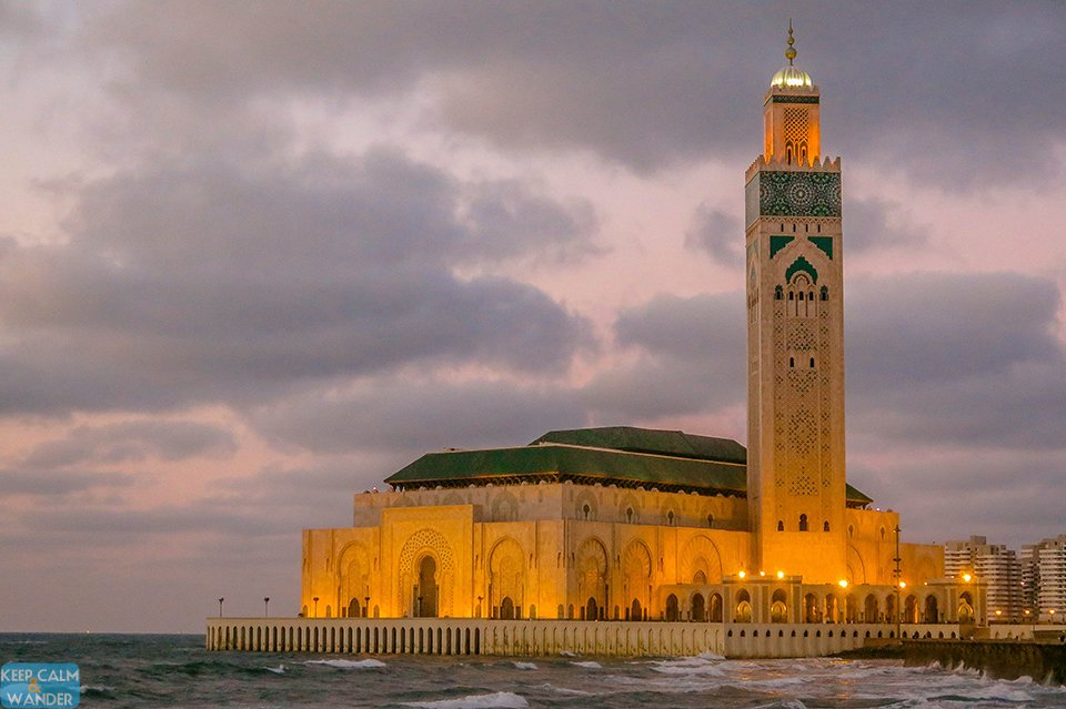 Hassan II Mosque in Casablanca Morocco.