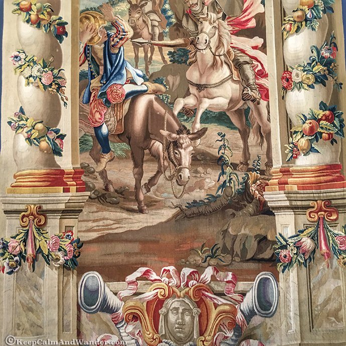 Don Quixote Tapestry at Palacio Real (Royal Palace), Madrid, Spain.