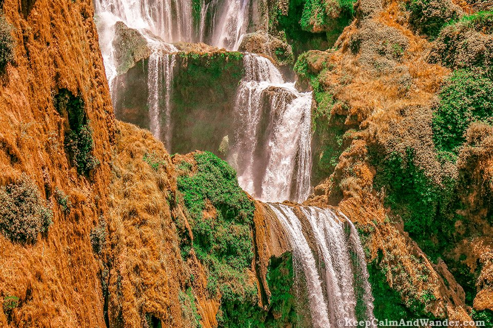 Ouzoud Waterfalls is a three-hour drive from Marrakech, Morocco.