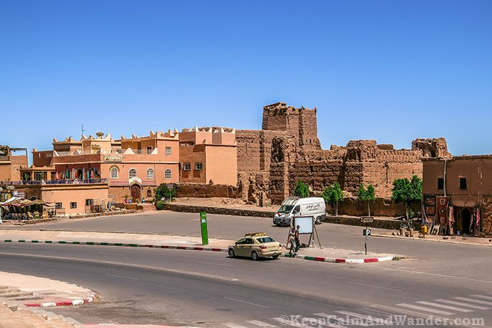The Splendid Taourirt Kasbah in Ouarzazate, Morocco.