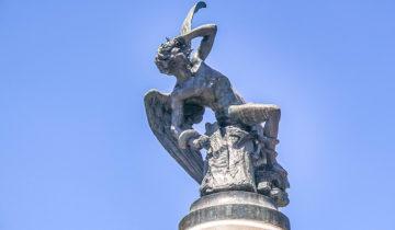 This Fallen Angel Statue is Dedicated to the Devil (Retiro Park, Madrid).