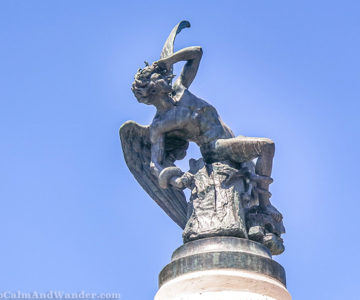 This Fallen Angel Statue is Dedicated to the Devil (Retiro Park, Madrid).