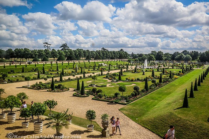 The Hampton Palace Gardens are beautiful in the summer. London