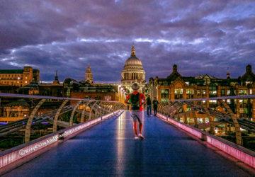 The Photogenic Millennium Bridge (London, England).
