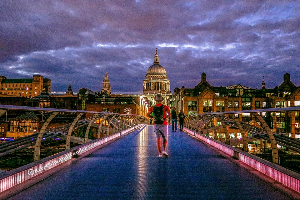 The Photogenic Millennium Bridge (London, England).