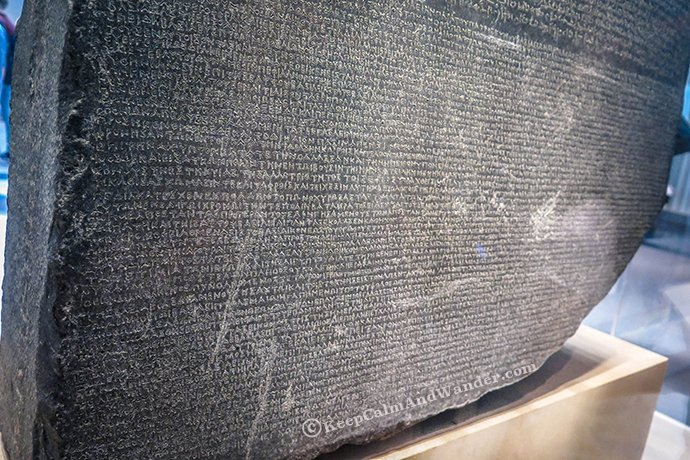 The RosettaStone at British Museum in London.
