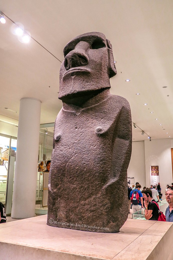 10 Things to See at the British Museum - Easter Island Statue (London).