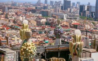 vBarcelona from the top of Sagrada Familia (Spain).