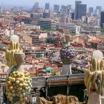 Barcelona from the top of Sagrada Familia