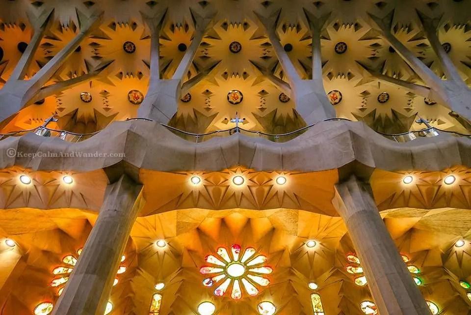 There's a Rainbow Inside the Sagrada Familia (Barcelona, Spain).