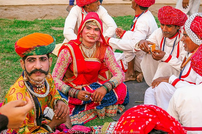 Indian Dancers during the Republic Day celebration at the Red Fort in New Delhi, India.