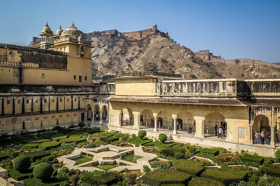 Amber Fort - The Palace Built on a Mountain in Jaipur (India).