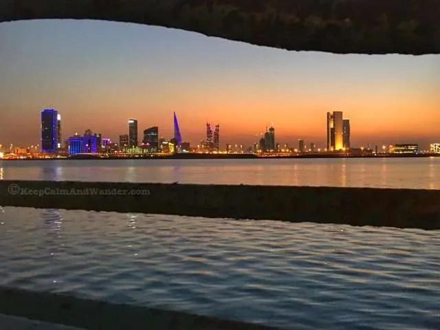 Manama Skyline at Night (Bahrain).