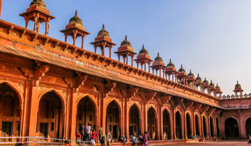 The Beautiful Jama Masjid in Fatehpur Sikri (Agra, India).