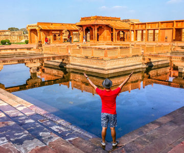 Fatehpur Sikri, the City of Victory in Agra, India.