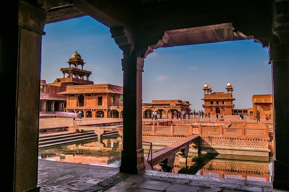 Fatehpur Sikri in Agra, the City of Victory (India).