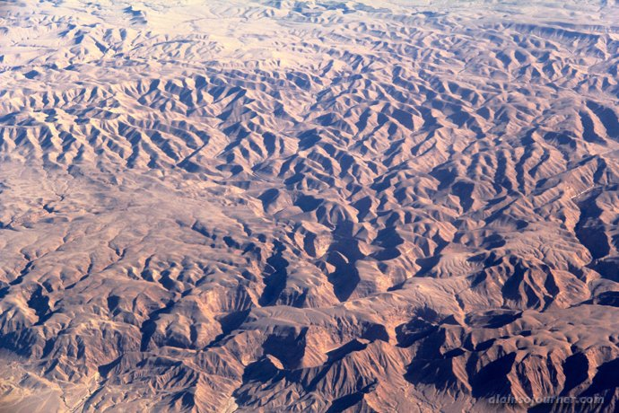 View from the top - Cairo to Amman Desert