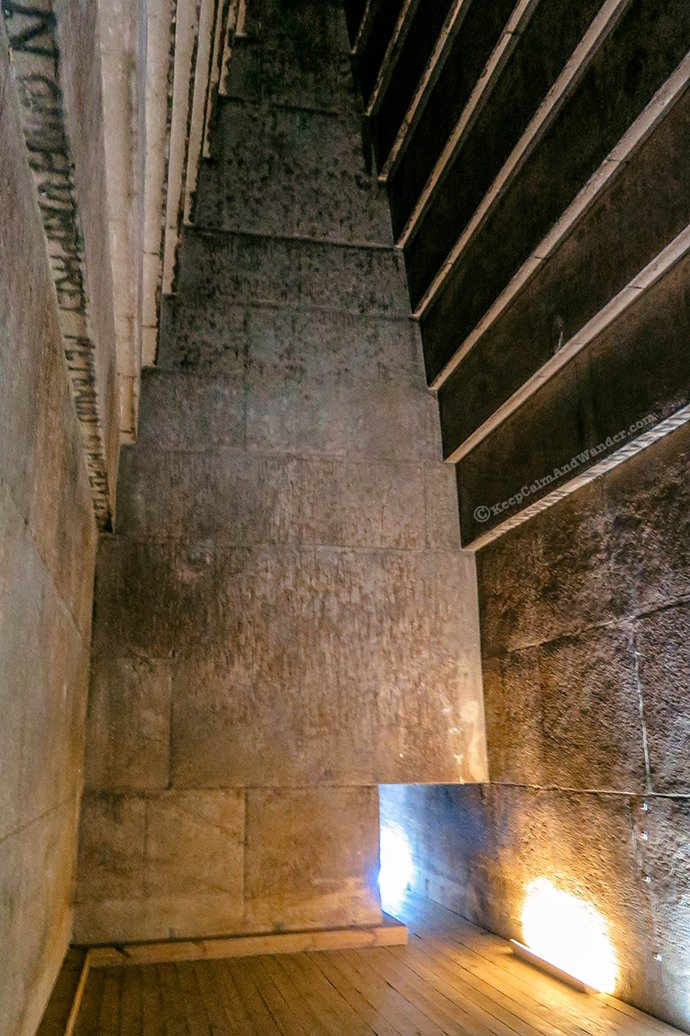 Photos: Inside the Red Pyramid in Cairo (Dahshur, Egypt).