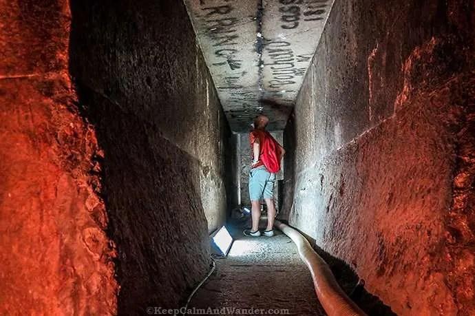 Photos: Inside the Red Pyramid in Dahshur (Cairo, Egypt).