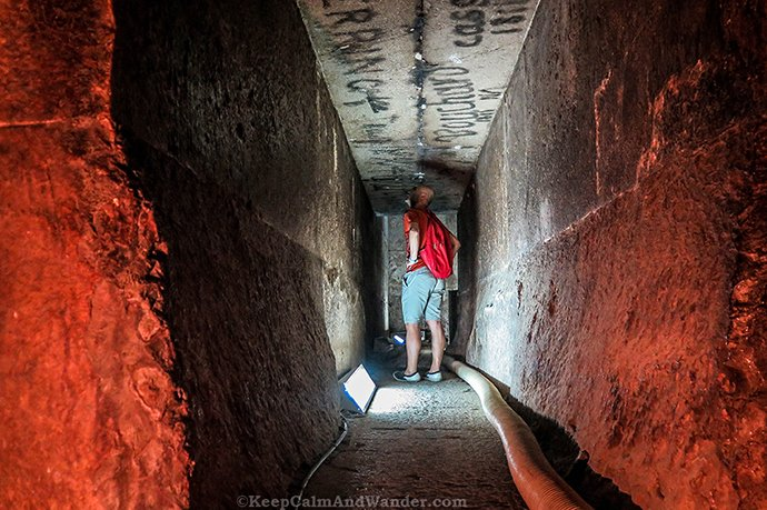 Photos: Inside the Red Pyramid in Dahshur (Cairo, Egypt).