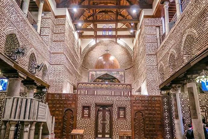 Coptic Cairo - Saints Sergius and Bacchus Church (Egypt).
