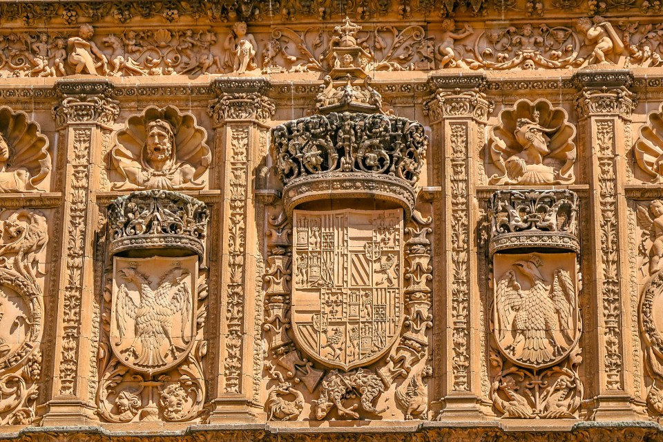 Find the Frog on the Skull in Salamanca (University of Salamanca, Spain)
